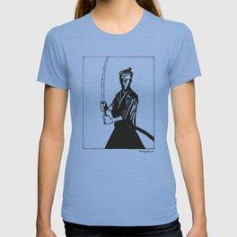 Samurai in Black T-shirt