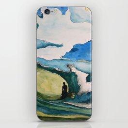 Watercolor Surfer iPhone Skin