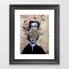 POE WITH EXAGERRATED THOUGHT Framed Art Print