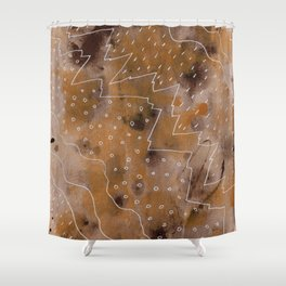 Biomes Shower Curtain