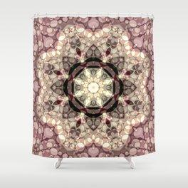 Mushroom Pastel Mandala Shower Curtain