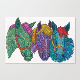 Horse Triptych #1 Canvas Print