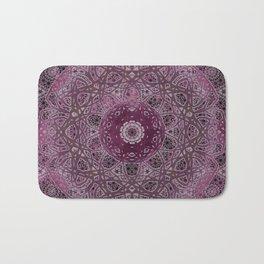 Vintage Merlot Lace Mandala Bath Mat