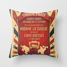 CIRQUE PRICE ROUGE Throw Pillow