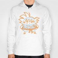 goku Hoodies featuring Cheeseburger Goku by Philip Tseng