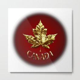 Gold Canada Souvenir Metal Print