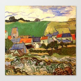 View of Auvers, Vincent van Gogh. Canvas Print