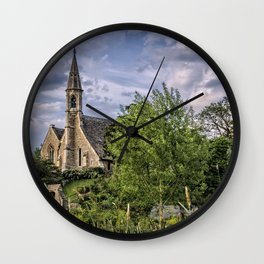 The Church at Clifton Hampden Wall Clock