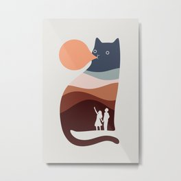 Cat Landscape 35 Metal Print