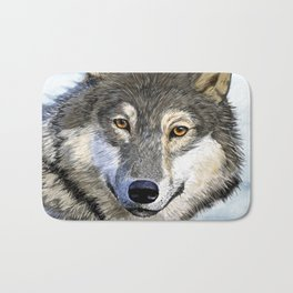 Eyes of the Wolf Bath Mat