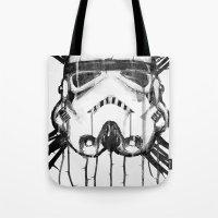 storm trooper Tote Bags featuring storm trooper by ErDavid