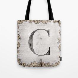 Neutral Monogram C Tote Bag