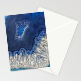 Blue agate crystal Stationery Cards