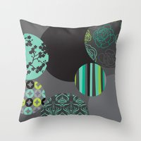 oriental Throw Pillows featuring Oriental by thickblackoutline