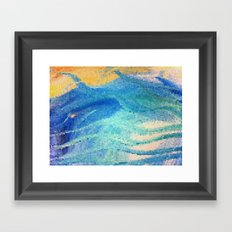 Beach Mosaic Framed Art Print