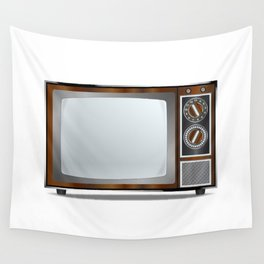Old Television Set Wall Tapestry