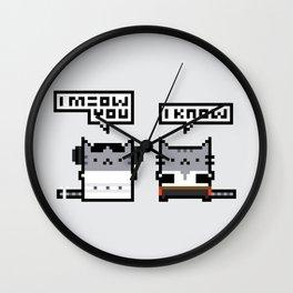 I Meow You - Cat Wars Wall Clock