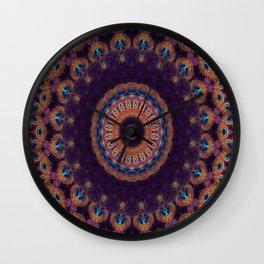 Jewelled Peacock Wall Clock