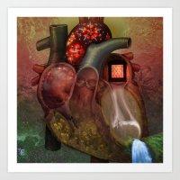 Out of the Abundance: Heart Art Print