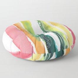 RIVULETS // rainbow Floor Pillow