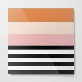 Aspen Cream Stripe Metal Print