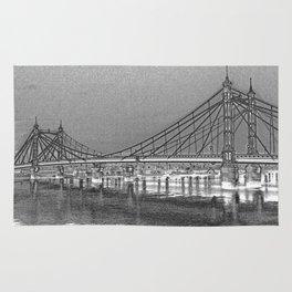 Albert Bridge London Digital Art Rug