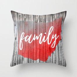 Ohio Map Family Barn Wall Painting Throw Pillow