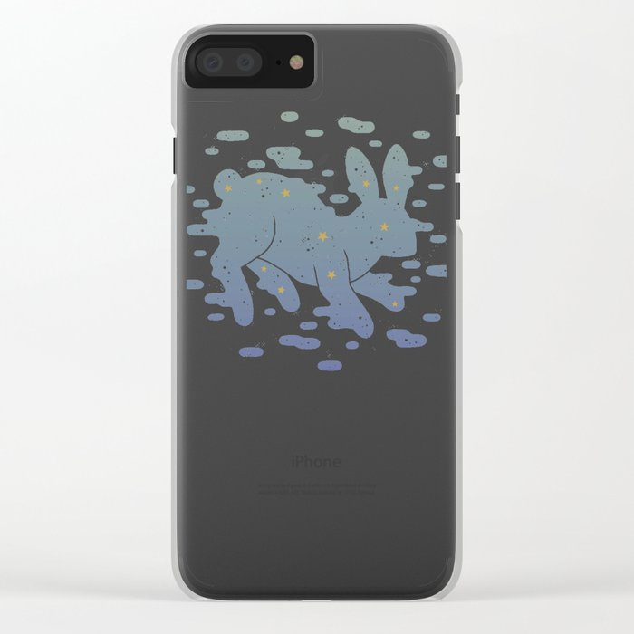 Lepus Constellation: Pastel Clear iPhone Case