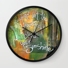 Downpour Wall Clock