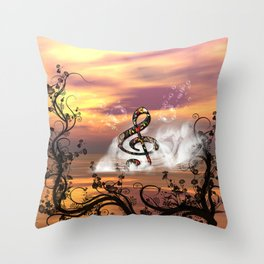 Colorful clef Throw Pillow