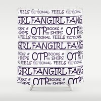 fangirl Shower Curtains featuring Fangirl by amyskhaleesi