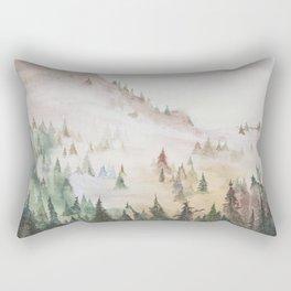 Forêt dans la brume Rectangular Pillow