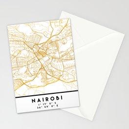 NAIROBI KENYA CITY STREET MAP ART Stationery Cards
