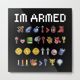 "The Legend of Zelda - Weapons / Items - ""I'm Armed"" Metal Print"