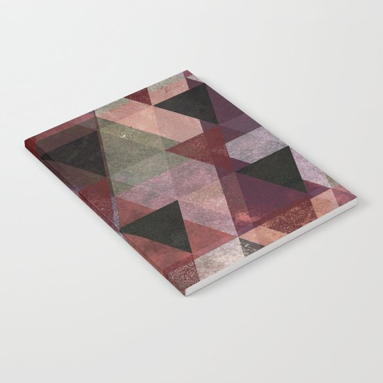 Abstract #482 Triangle Collage Notebook