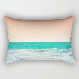 Aqua and Coral, 3 Rectangular Pillow