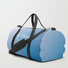 Be Different Typography Design Duffle Bag