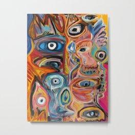 Street Art Brut Vector Graffiti Eyes Metal Print