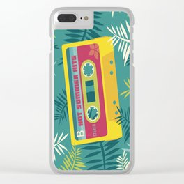 Hot Summer Hits - Retro Tape Clear iPhone Case