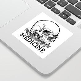 Medicine Skull Sticker