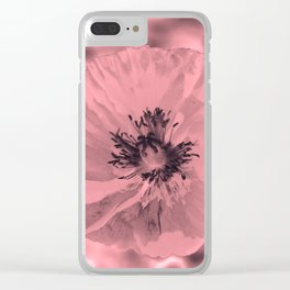 pink poppy Clear iPhone Case
