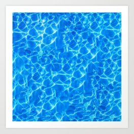Water reflections Art Print