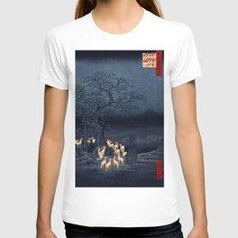 Utagawa Hiroshige New Year's Eve Foxfires at the Changing Tree T-shirt