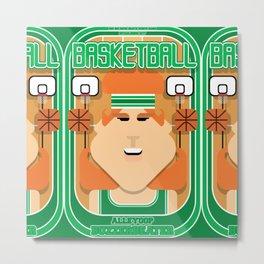 Basketball Green - Alleyoop Buzzerbeater - Jacqui version Metal Print