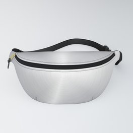 Shiny faux silver background Fanny Pack