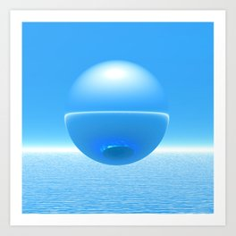 Floating Orb Art Print