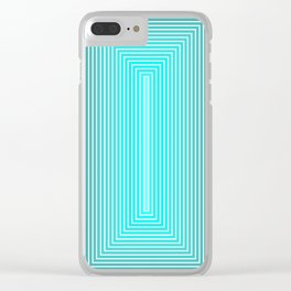 Psychedelic squares III Clear iPhone Case