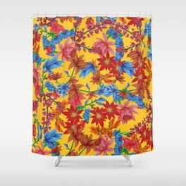 Amelia, Yellow Shower Curtain