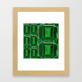 SPRING GREEN EMERALDS ART DECORATIVE  DESIGN Framed Art Print