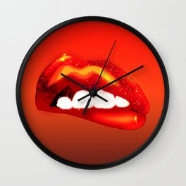 Neon Love. Wall Clock
